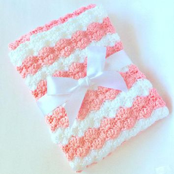 Personalized - Baby Blanket - Prop - Photo Prop - Baby Shower Gift - Minky Baby Blanket - Crochet Blanket - Receiving Blanket - Baby Gift