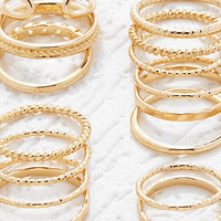 Etched Midi Ring Set