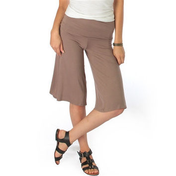 On The Lounge Fold Over Gaucho Capri Pants