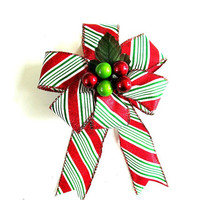 Small Christmas gift bow, Gift wrap bow, Holiday decoration, Christmas tree bow, Winter celebration, Holiday accent, Christmas decor (C350)