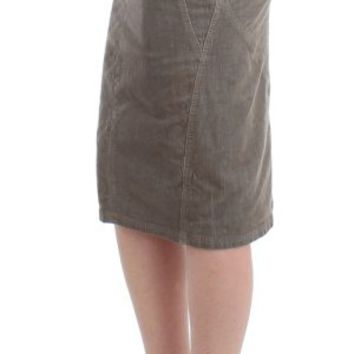 Cavalli Gray corduroy pencil skirt for Sale at LuxBranded