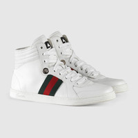 Gucci High-top leather sneaker