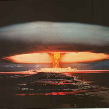 Hydrogen Bomb Explosion Poster 24x36