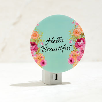 Hello Beautiful Mint Night Light