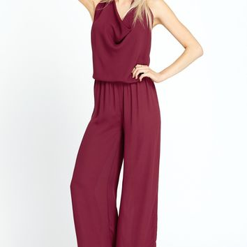 You're So Vain Cowl Halter Jumpsuit