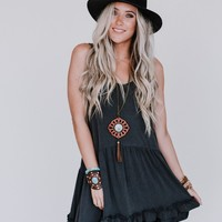 Free Falling Sleeveless Tunic - Ash