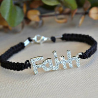 Crystal Faith Friendship Bracelet