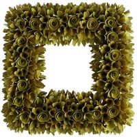Wood Chip Wreath - Green