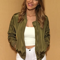 Bomber Jacket - Olive - FINAL SALE