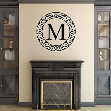 Personalized Custom Monogram Family Vinyl Wall Decal Sticker