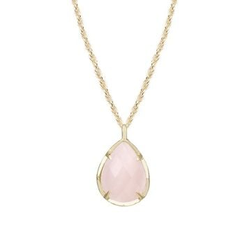 Kiri Rose Quartz Pendant Necklace in Gold | Kendra Scott