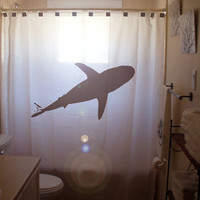 Shark Shower Curtain, custom unique bathroom curtains