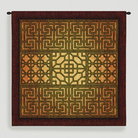 Eastern Lattice Tapestry Wall Hanging - World Market