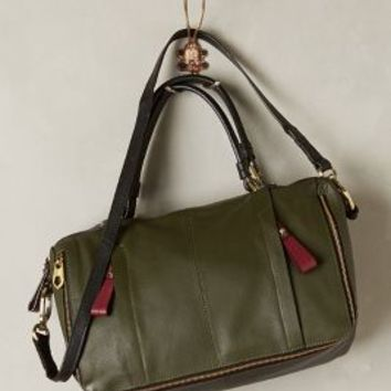 Dapper Double Zip Satchel by Oryany Holly One Size Bags