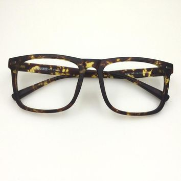 Big frame eyeglasses optical eyeware glasses TR90 flexible large spectacle eyeglasses plain hipster glasses eyeglass square
