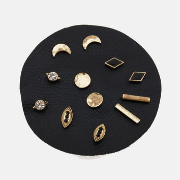 Gold Dust Woman Stud Earrings - Set of 6