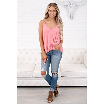 Be Brave Tank Top (Peach Blossom)