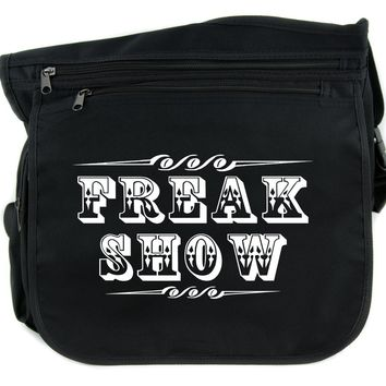 Freak Show Poster Cross Body Messenger School Bag Carnivale Circus Side Show