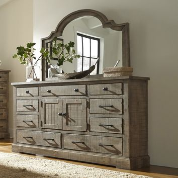 Meadow Casual Door Dresser Weathered Gray