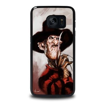 freddy krueger 3 samsung galaxy s7 edge case cover  number 1