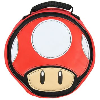 Super Mario Lunch Box Soft Kit Insulated Cooler Bag Mushroom