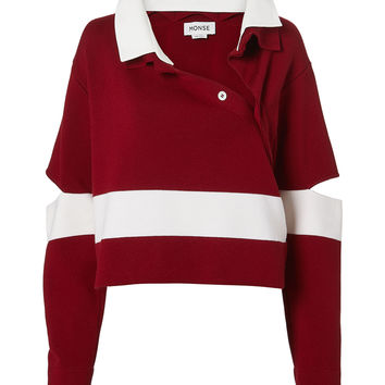 Stripe Polo Sweater