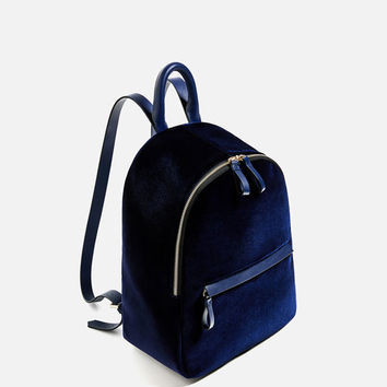 VELVET BACKPACK DETAILS