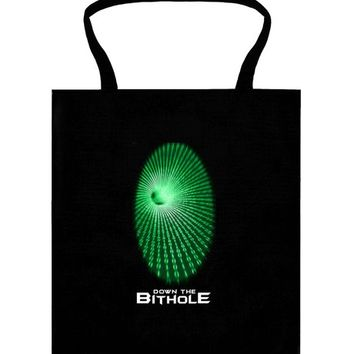 Down the bithole tote bag