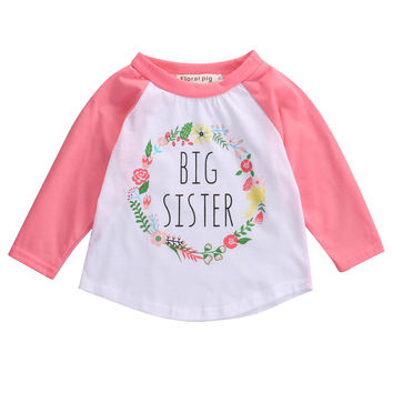 Autumn 2016 Baby Girls Boys Letter Print T-Shirt Toddler Long Sleeve tops Blouse cotton kids t shirt girls boys clothing