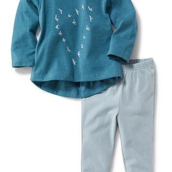 Old Navy 2 Piece Graphic Top And Leggings Set