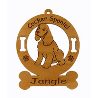 2170 Cocker Spaniel Pup Personalized Dog Ornament