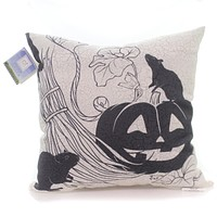 Halloween Vintage Halloween Pumpkin Pillow Halloween Accent Pillow