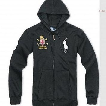 Beauty Ticks Ralph Lauren Club Big Pony Hoodies Black