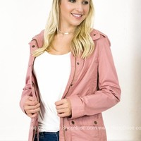 London Zipper Jacket | Pink