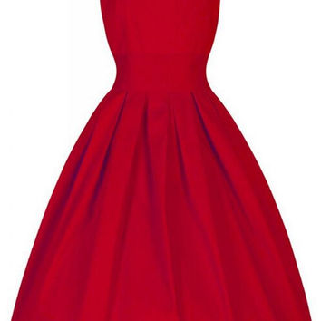 Pretty Simple 1950'S Cheap Vintage Dresses For Teens V1