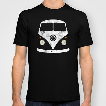 Volkswagen Split Bus - Vintage T-shirt by Nick Steen