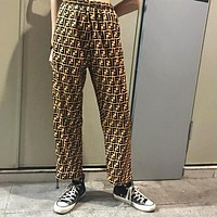 "Hot Sale ""FENDI"" Trending Women Men Stylish Retro Full F Letter Pants"