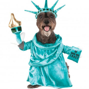 Statue of Liberty Dog Pet Walking Costume
