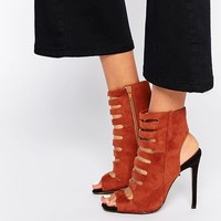 Missguided Cut Out Detail Heeled Shoe at asos.com