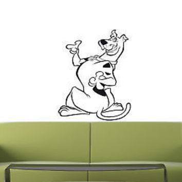 SCOOBY DOO Wall MURAL Vinyl Decal Sticker Kids Room 001