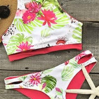 Cupshe Spring In Air Floral Bikini Set