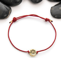 Lotus, Lotus flower, Yoga, Friendship bracelet, bracelet, Jewelry, Lotus bracelet, lotus charm, Gift Idea, House of Metalworks, Yoga Gift