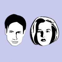 Mulder and Scully magnet set