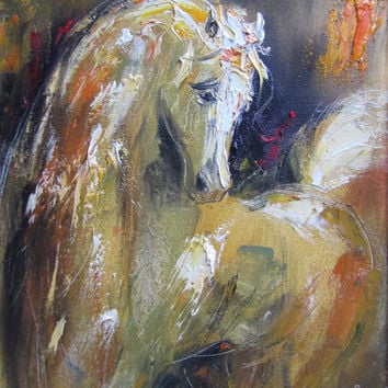 Horse, giclee print of original oil painting,tears,fine art paper print