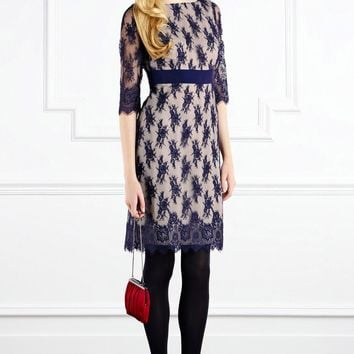 Coast Polly lace dress Navy