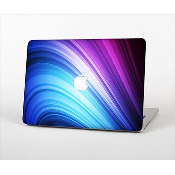 """The Pink and Blue Glowing Neon Wave Skin Set for the Apple MacBook Pro 15"""""""