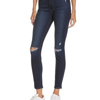 PAIGEHoxton Ankle Skinny Jeans in Aveline Destructed