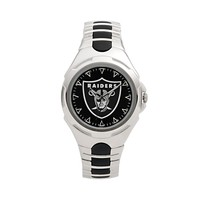 Game Time Victory Series Oakland Raiders Silver-Tone Watch - Men