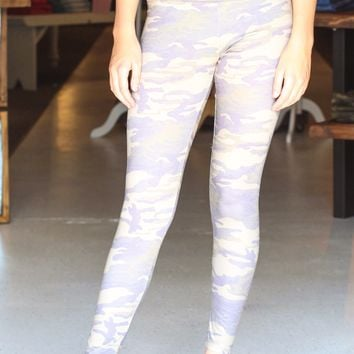 {Olive} Camouflage Printed Leggings