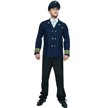New Pilot Man jackets costume cosplay Airman Halloween Party role play uniform For Popular handsome cosplay Pilot Man costumes